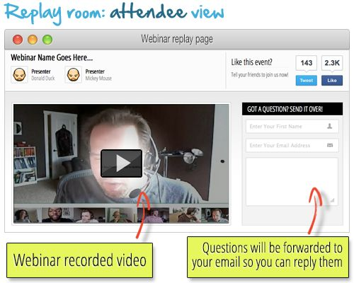With WebinarJam you get utomatic webinar recording and on-demand replay!