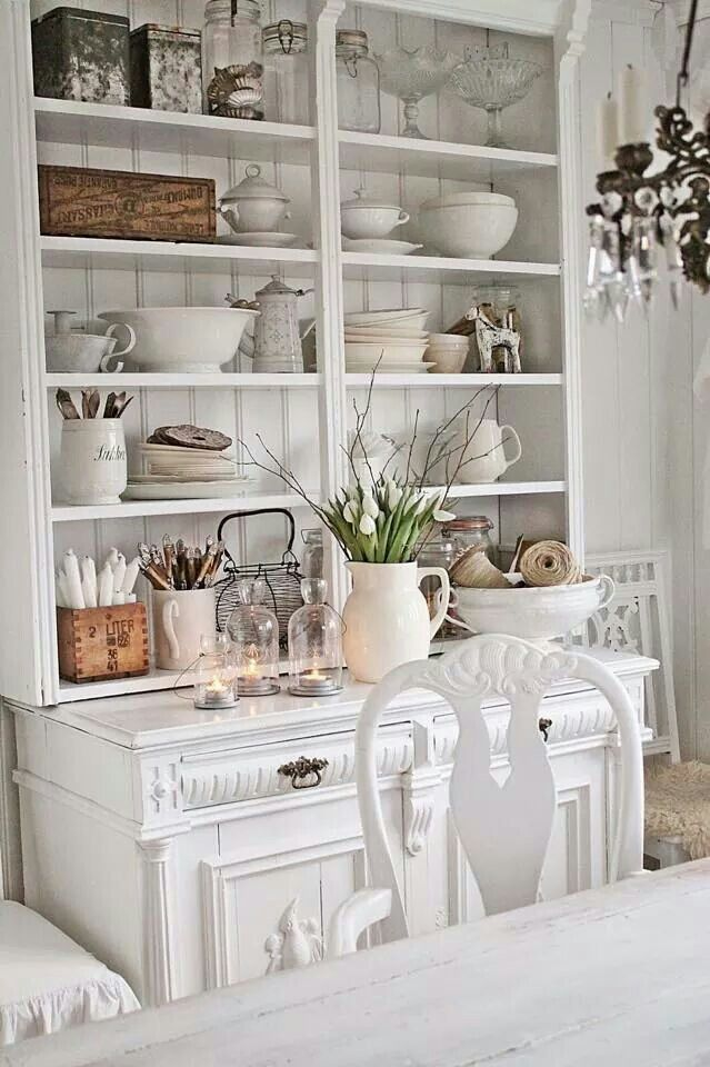 VIBEKE DESIGN - JUST BEAUTIFUL!! - EVERY KITCHEN NEEDS A DRESSER LIKE THIS!! - NOT ONLY USEFUL, HOWEVER ALSO VERY DECORATIVE!