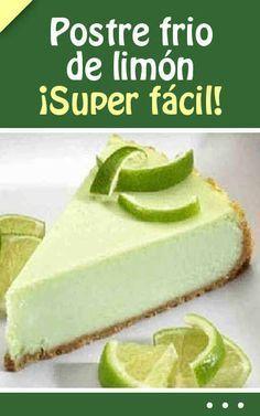 Postre frio de limón. ¡Super fácil! #tarta #sinhorno #fria #limón