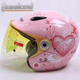 pink motorcycle half face helmet... for the new bike