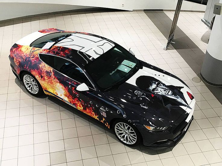 Ford Mustang In Gangster Style Car Wrap Design Car