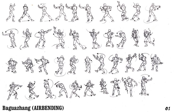 airbending poses