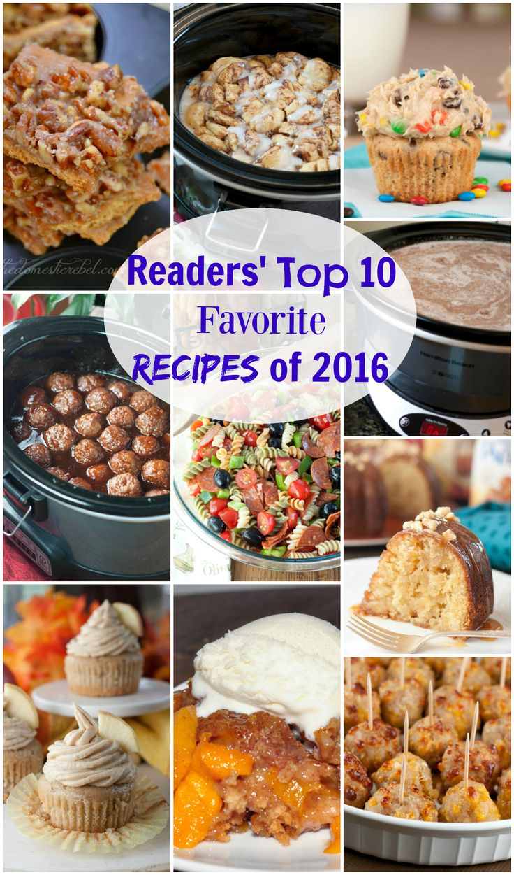 In Readers' Top 10 Favorite Recipes of 2016, I gathered the 10 most popular and best recipes for 2016! These are the recipes that gained the most views!