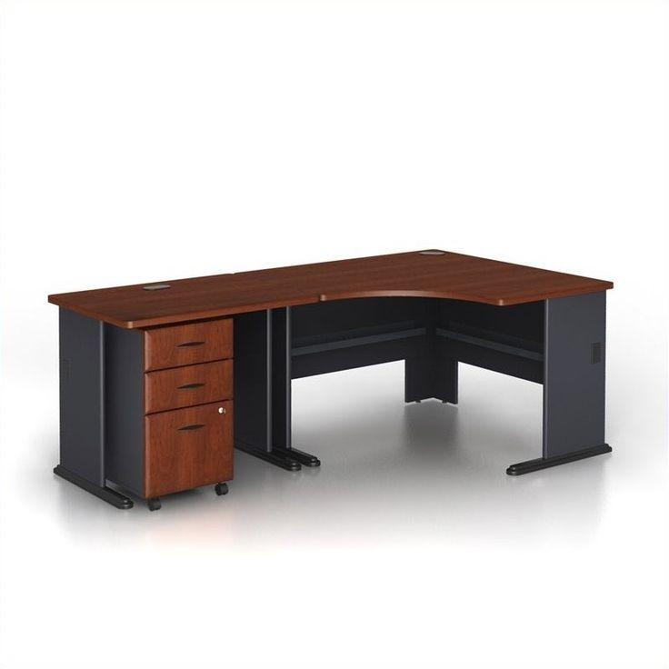 Found it at cymax.com - Bush Business Series A 3-Piece Corner Computer Desk in Hansen Cherry
