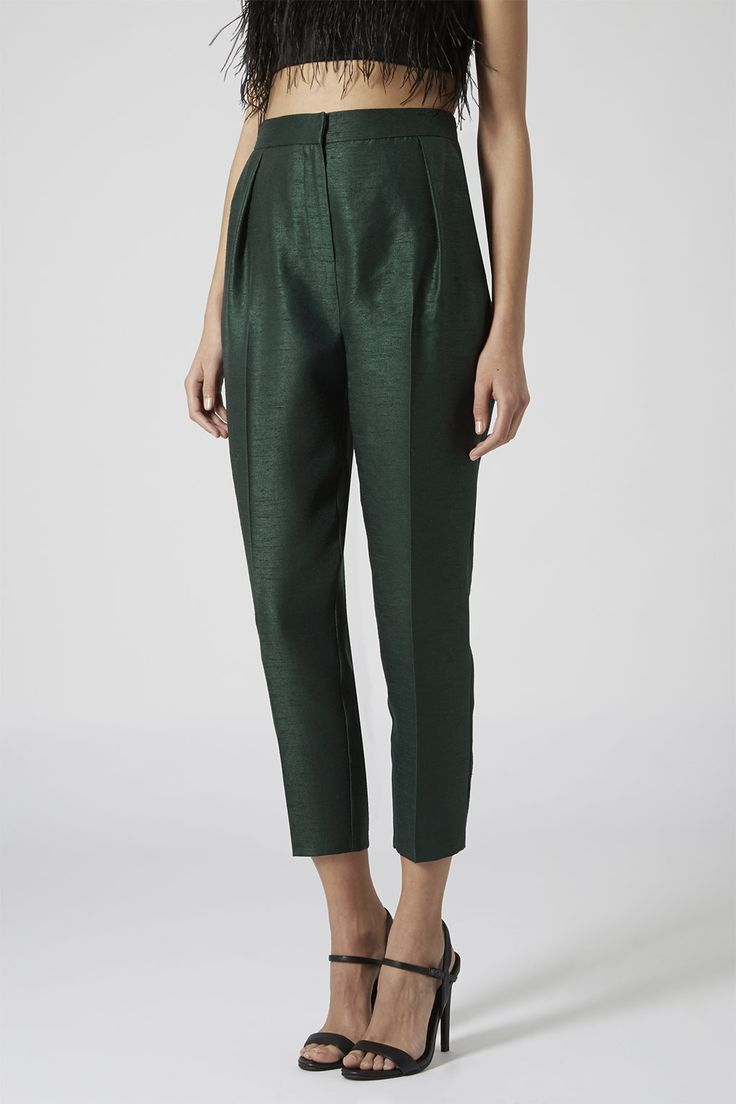 Dupion Peg Trousers - probably size 16?