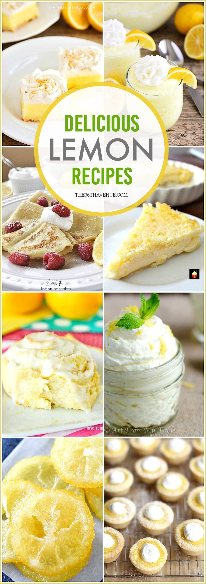 These Lemon Recipes are easy to make and super delicious. These lemon desserts are so good, and perfect for any occasion... Give them a try!