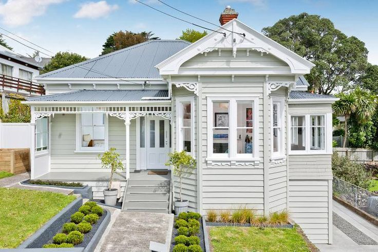 Mix of pale colours but works. Villa - Auckland, New Zealand