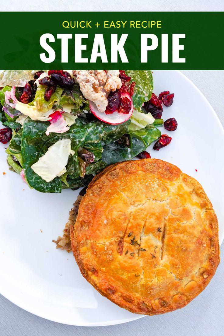 A classic British steak and mushroom pie recipe made easy ...