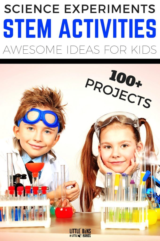 The best kids science experiments and STEM activities! Preschool through elementary age kids will love these awesome science activities and STEM projects! Slimes, catapults, crystals, eruptions, and more. Plus we have tons of holiday and seasonal themed STEM activities for a years worth of cool STEM ideas.