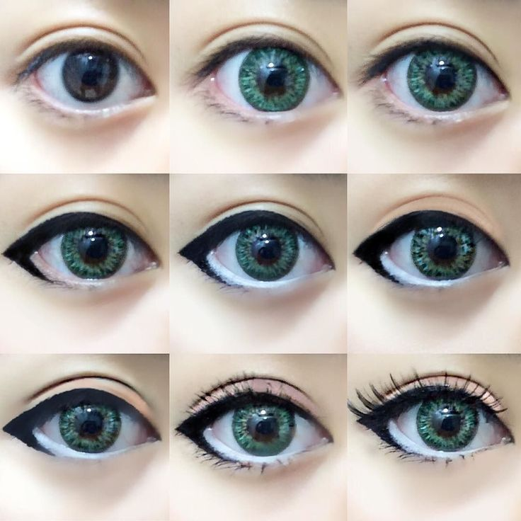 One of my favorite makeup routines for cosplay or circle lenses () Will be posting more eye makeup routines so follow me! ヽ()/ The Routine 1. Eye Primer 2. Contact lenses. (G&G Shinny Green from @pinkyparadisedotcom ) 3. Tightlined eyelash line with black. 4. Eyeliner. I believe that different eyeliner styles suit different eye shapes so play around with eyeliner and experiment to find what you like! 5. Lined lower lashline with white. 6. Matte nude eyeshadow on eyelid. (I chose light…