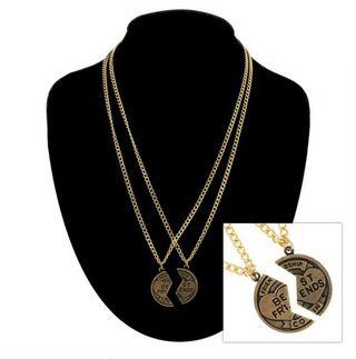 2 Part Best Friends Coin Necklace