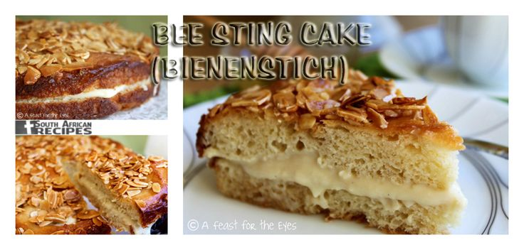 South African Recipes BEE STING CAKE (BIENENSTICH) (Chef Dennis)
