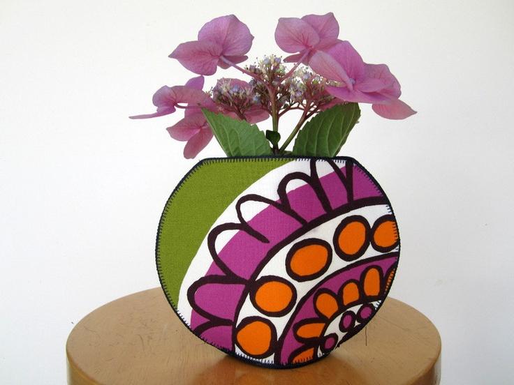 Marimekkko Kissanminttu fishbowl fabric vase. $39.00, via Etsy.