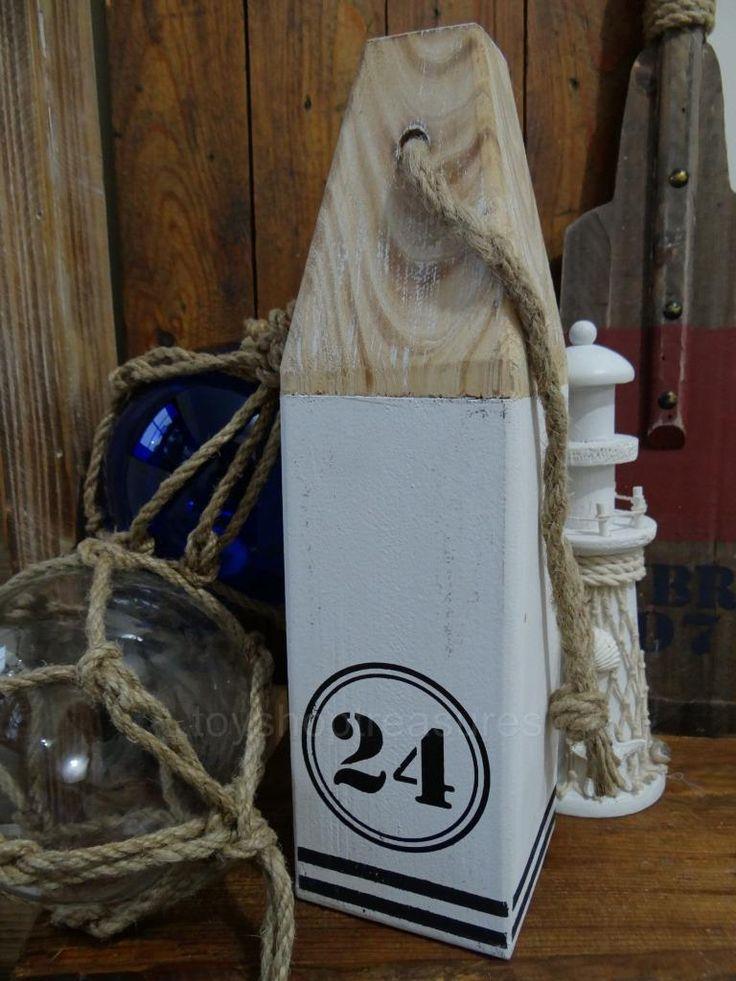 Vintage Style Wood Bouy With Rope Nautical Door Stop Beach Coastal Marine NO 24 | eBay