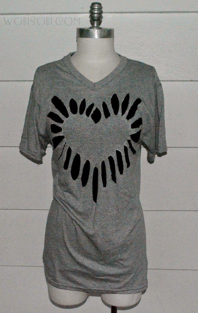 WobiSobi: Heart Cutout Shirt, DIY