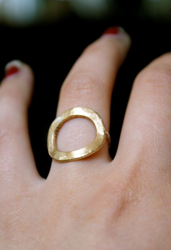 Brass infinity ring with sterling silver band by hannahnaomi, $25.00
