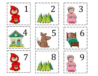 Preschool Printables: Red Riding Hood