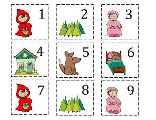 Preschool Printables: Red Riding Hood