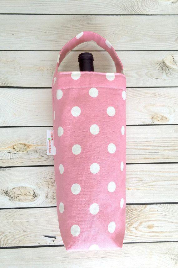 Wine Tote Bag Wine Carrier Wine Gift Bag by LittleMissPoBean