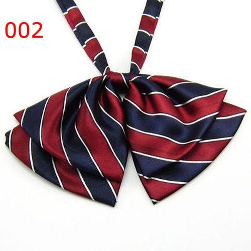 Women-Girls-Fashion-Party-Colorful-Stripe-Adjustable-Bow-Tie-Bowtie-Necktie
