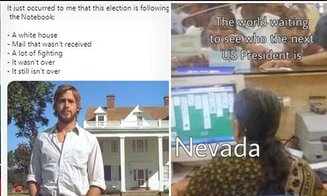 Twitter Users Post Memes Mocking The Slow Count In Nevada Electoral College Votes Mocking Nevada