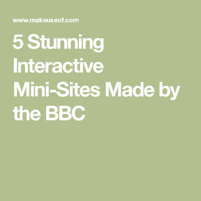 5 Stunning Interactive Mini-Sites Made by the BBC