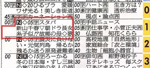 カーネーション優子役の新山千春が登場です。■スタジオパークに新山千春 #nhk - 今日のテレビ欄より