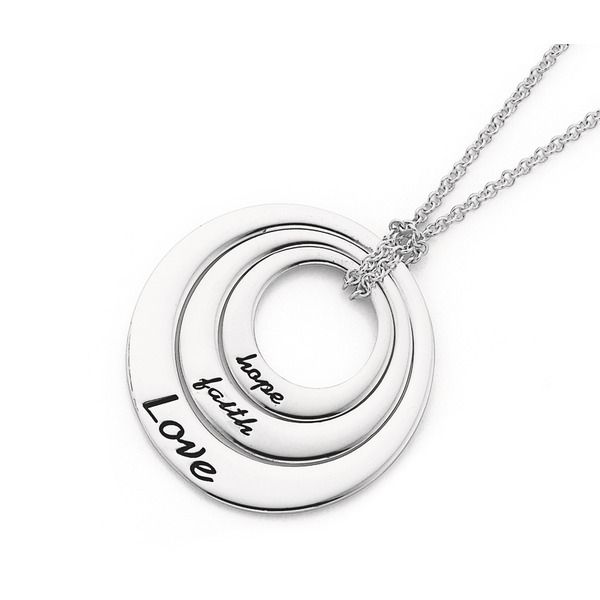 Sterling Silver Hope, Faith