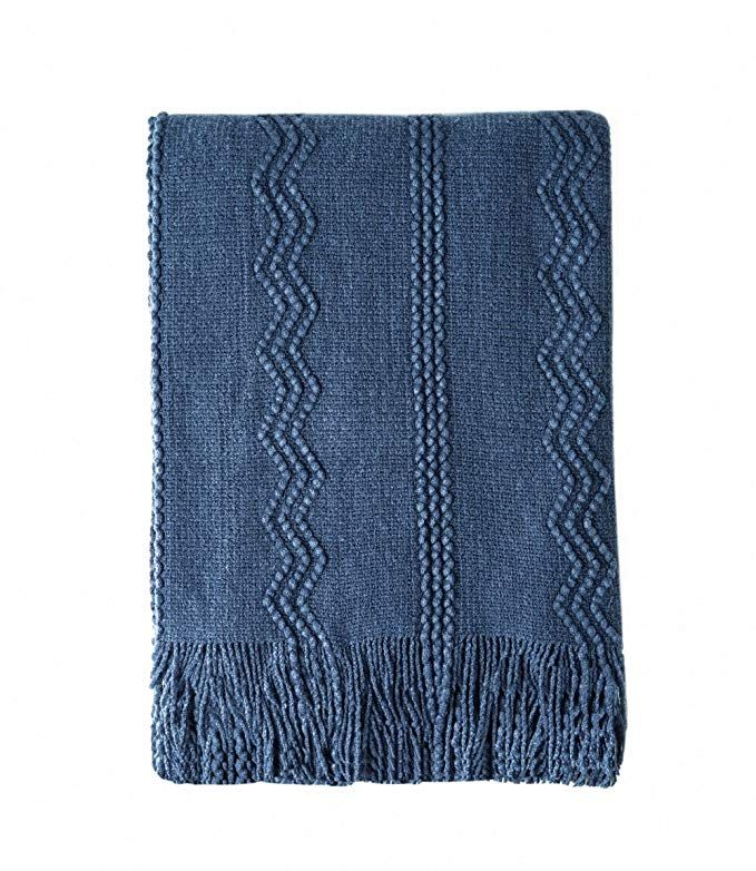 Groovy Bourina Throw Blanket Textured Solid Soft Sofa Couch Uwap Interior Chair Design Uwaporg