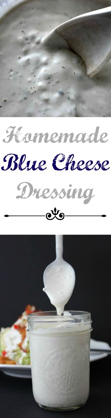 Top your favorite salad with this creamy and chunky homemade blue cheese dressing recipe. I've tried so many different recipes, with all kinds of ingredients, but none of them came out nearly as great as this one!