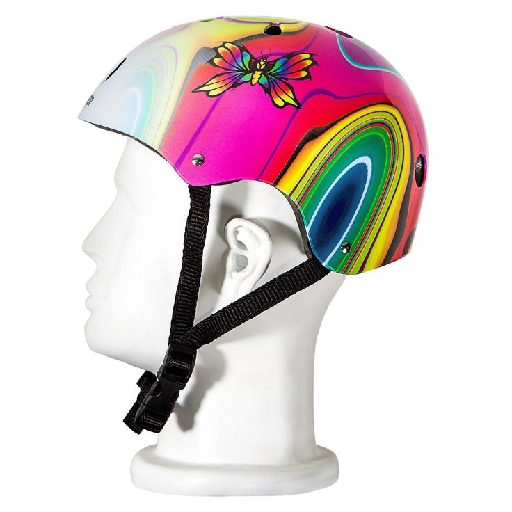Punisher Skateboards Butterfly Jive Skateboard Helmet - Black