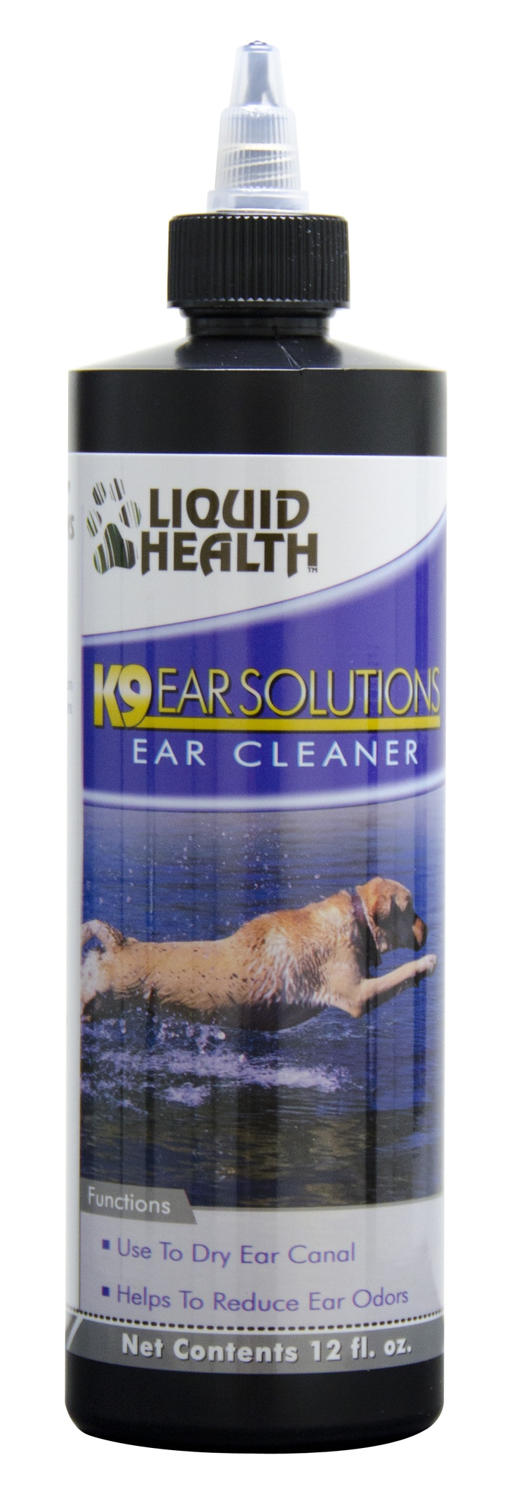 Liquid Health's Ear Solution washes & dries. It also reduces that smelly odor in the ear.