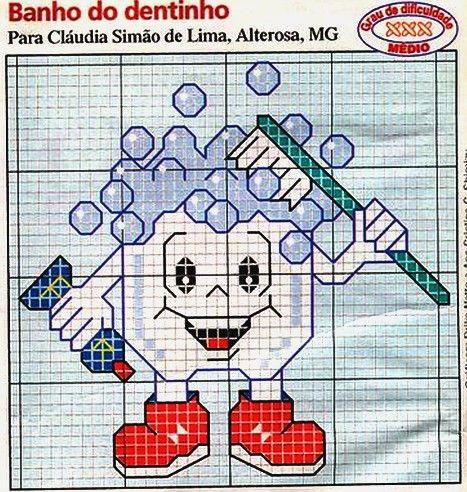 gráficos para toalhinhas porta escova de dente - Pesquisa Google