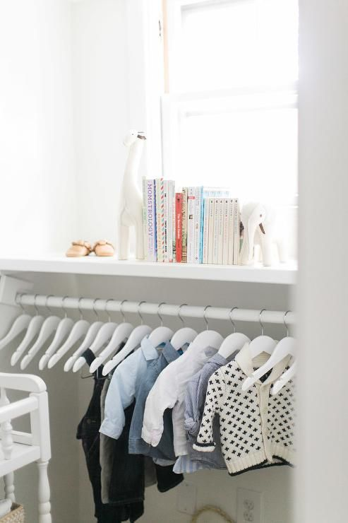 Nursery Closet With Low Clothes Rail   Transitional   Nursery