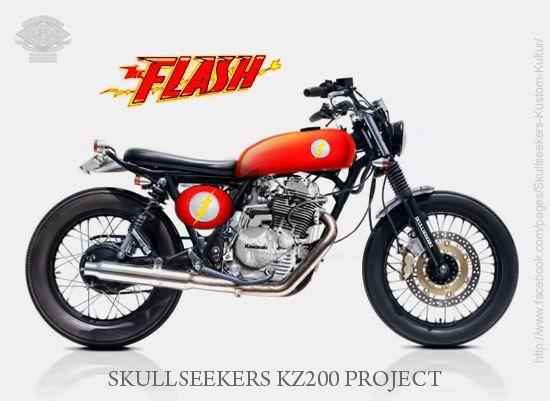 Kawasaki KZ200 Binter Merzy, Skullseekers Kustom Kulture's Project, Bandung, West Java Indonesia