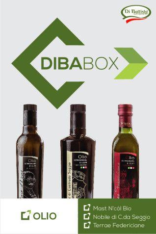 DIBA-Box - Olio con bottiglie da 0,75 Lt. dei tre pregiati oli Di Battista.