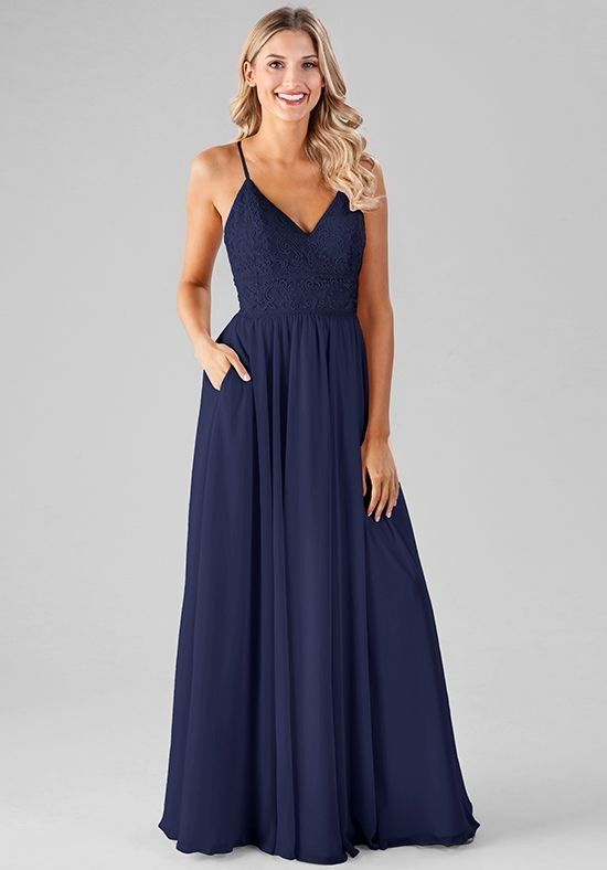 cc766544f65 Kennedy Blue s embroidered lace bridesmaid dresses are taking the market by  storm and Devin is no exception! This gown features delicatley beaded  spaghetti ...