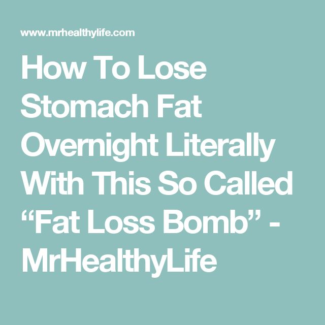 How To Lose Stomach Fat Overnight Literally With This So ...