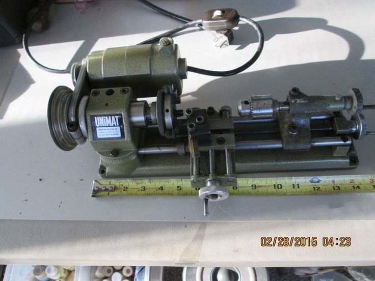 A mini metal lathe.  US $101.00 Used in Business & Industrial, Manufacturing & Metalworking, Metalworking Tooling