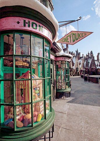 Honeydukes sweet shop in Wizarding World of Harry Potter (universal studios)! Really can't wait to get back there. It may take years, but I will return!