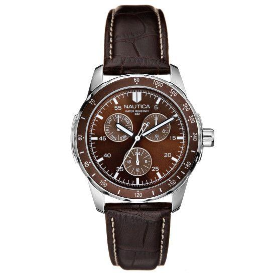 Wind Seeker Leather Watch - Multi | Nautica