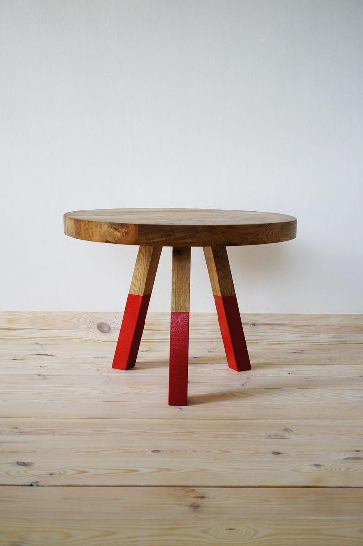 Coffee Table Oak Marsala by projekt drewno made in Polandop CROWDYHOUSE