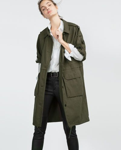 Image 2 of PARKA WITH ROLL-UP SLEEVES from Zara