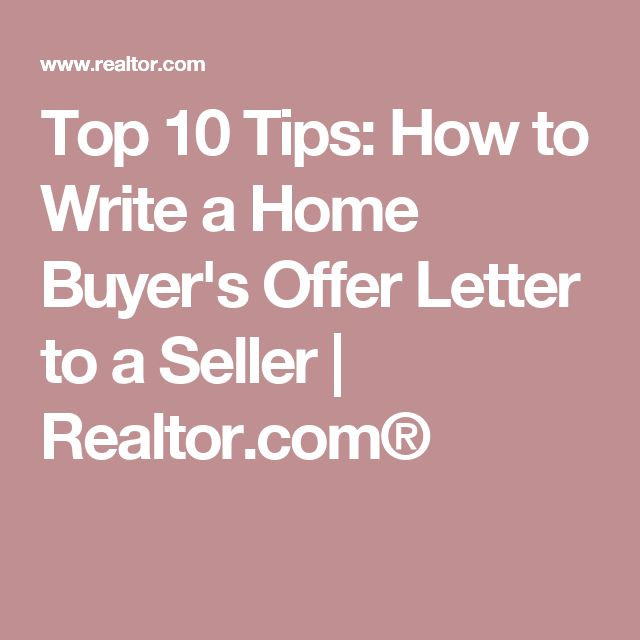 How to Write an Offer to Purchase Letter - how to write an offer letter