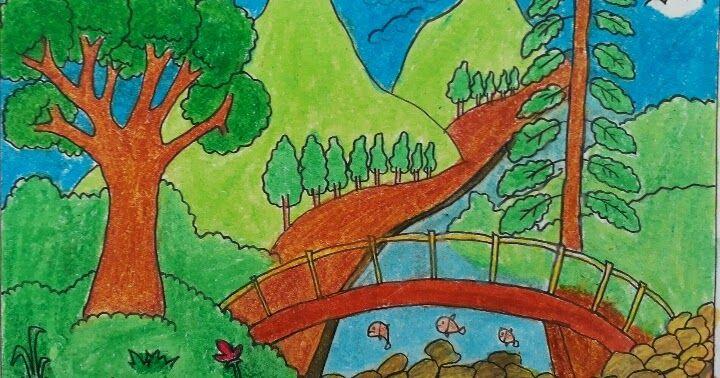 10 Pemandangan Indah Dan Mudah Jual Lukisan Pemandangan Alam Pegunungan Dan Sawah Ukuran 80x60 Dki Jakarta Likur S Di 2020 Pemandangan Cara Menggambar Lukisan Hewan