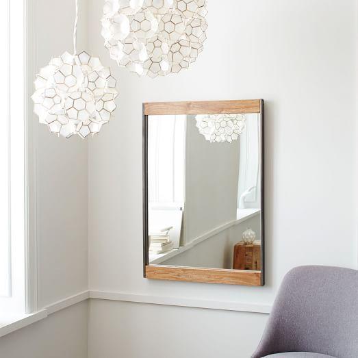 Industrial Wall Mirror, Mango Wood