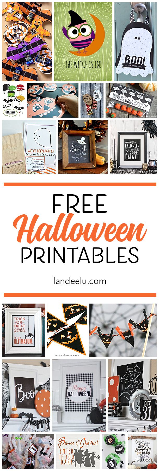 Tons of free Halloween printables to spookify your Halloween decor! #halloweenprintables #halloweendecorations