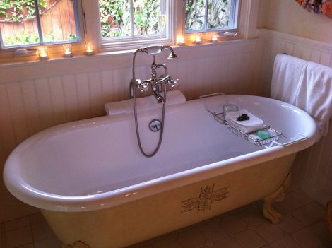Chicest Bathtub Ever: San Ysidro Ranch, Santa Barbara, California
