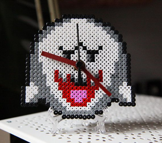 best images about perler clocks perler beads super mario boo ghost clock perler fuse beads by beadxbead