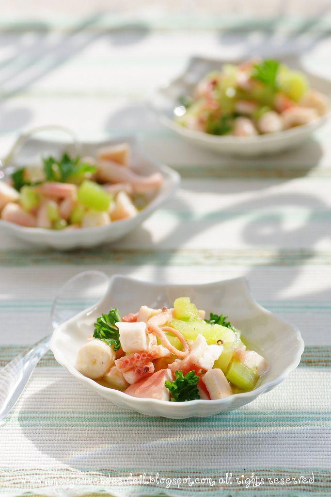 Insalata di polpo al sedano e limone. Octopus salad w/ celery and lemon.